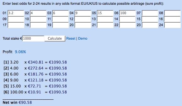 Sports arbitrage calculator excel template to calculate odds and.